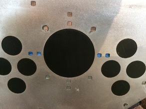 "metal arcade contol panel 3"" trackball hole cover"