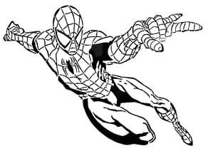Spiderman stencil 4