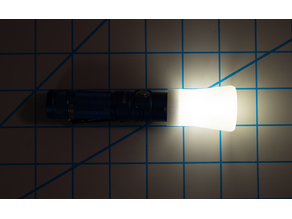 Universal Flashlight Lantern Diffuser Multiple Sizes 20mm 24mm 14.5mm