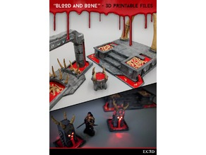 Blood and Bone - Abyssal Scenery - 28mm gaming - Sample Items