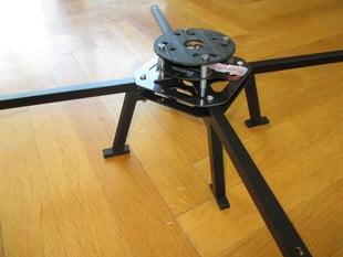 Quadrocopter landing skid for Flyduino warthox frame