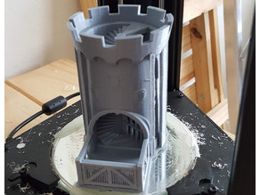 Custom Castle dice tower with moveable gate