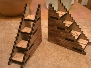 """4"""" Miniature Stairwell for 1""""-base miniatures"""