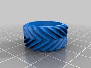 Herringbone (Double Helix) Gear and Base