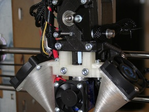 dual 40mm fan duct for direct drive extruder