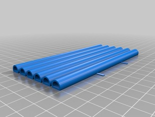 Space Frame Bars 12cm length, 8mm radius