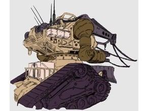1/144 rx 75 berrge guntank convertion