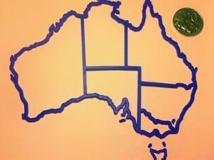 Australia @ 1:25,000,000.