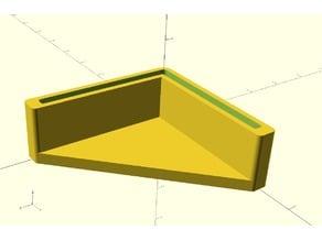 Square angle cap