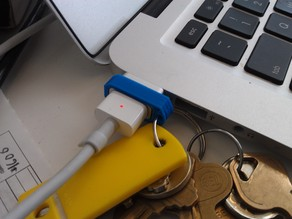 Macbook Power Adapter Keychain Clip
