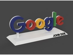 Google logo with stand