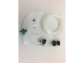 pneumatic extruder clamp, carriage adapter, and solenoid bracket