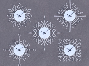 Design Your Own Sunburst Clock
