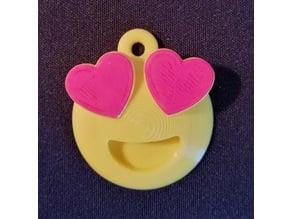 Emoji Love Hearts Keychain