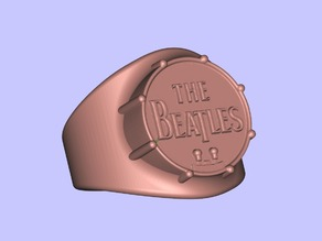 The Beatles Drum Ring