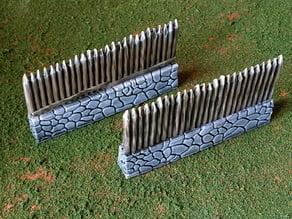 Fantasy viking palisade