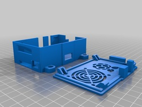 Raspberry Pi and RasPiComm Case with Fan Grill - Remix