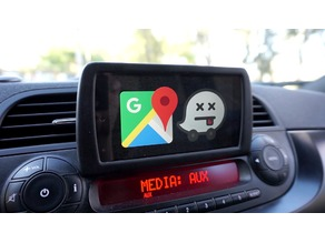 DIY Nexus 5 car navigation for Fiat 500 factory headunit