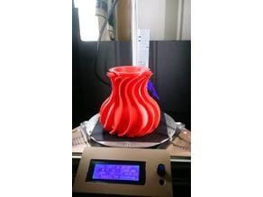 semi spiral vase