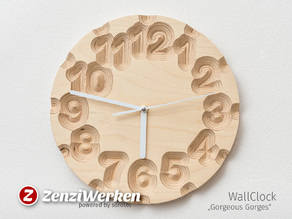 "Clock Face ""Gorgeous Gorges"" cnc"
