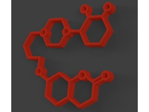 Aripiprazole molecule keychain