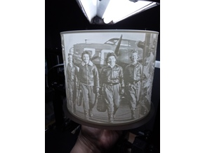 Women in WWII Lampshade