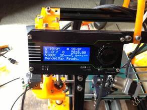 Vertex ViKi LCD Mount for MendelMax