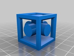 Double extrusion calibration cube