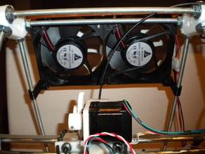 Threaded rod fan mount