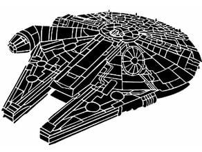 Millennium Falcon Stencil