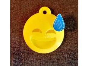 Emoji Sweat Keychain
