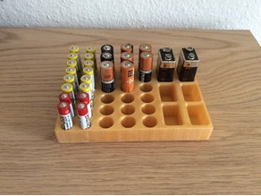 Battery holder for AA, AAA and 9V batteries