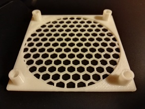 Customizable generic fan guard, filter, mesh WITH STUDS / SPACERS