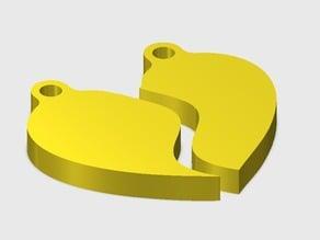 Split Heart Necklace Pendant