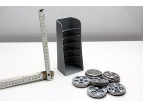 Pasta disk storage rack
