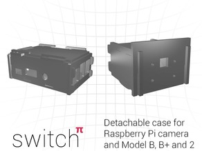 Case for Raspberry Pi B/B+/2 and Detachable camera mount