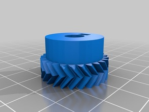 My Customized Parametric Herringbone Gear Set for Stepper Extruders