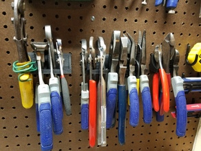 Pegboard Plier Holder