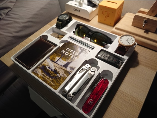 Desk Valet Edc Tray By Impatientturtle Thingiverse