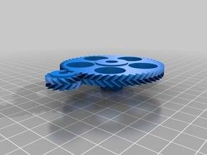 2 My Customized Parametric Herringbone Gear Set for Stepper Extruders