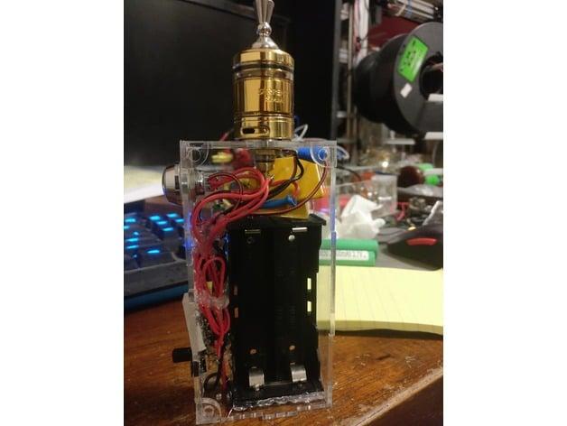 Box Mod Laser Cut Unregulated Ecig Vape box by phana007 ... Hammond E Cig Box Mod Wiring Diagram on