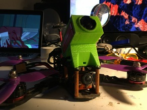 Customizable TPU Runcam HD 2 mount with adjustable camera angle