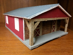 Horse Barn 1:64 scale