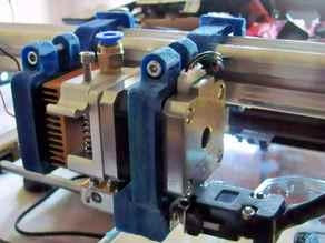 3Drag/K8200 Fast-clamp mounting for MK8 extruder