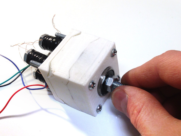 Experimental 3d printable nema 17 stepper motor by for Nema design b motor