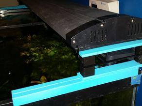55 Gallon Aquarium adjustable lightstand on a track