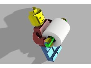 Lego Man Roll Holder