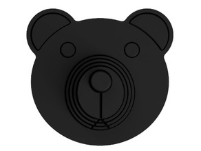 Bear Head with Controllable Nose (No Support, Single Print)