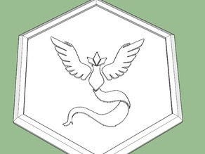 Team Mystic Pokemon go Badge.