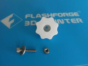 Adjuster knob for Flashforge baseplate